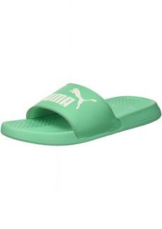 PUMA Women's Popcat Slide Sandal Biscay Green