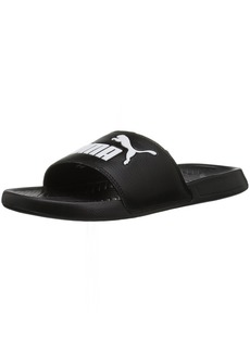 PUMA Women's Popcat WNS Slide Sandal Black-White  M US