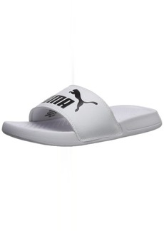 PUMA Women's Popcat WNS Slide Sandal White-Black