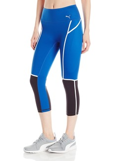 PUMA Women's Powershape 3/4 Legging True Blue Black XL