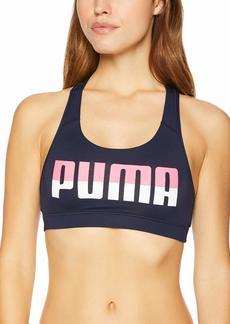 PUMA Women's Powershape Forever Logo Sports Bra Bra Peacoat/Chest puma XL