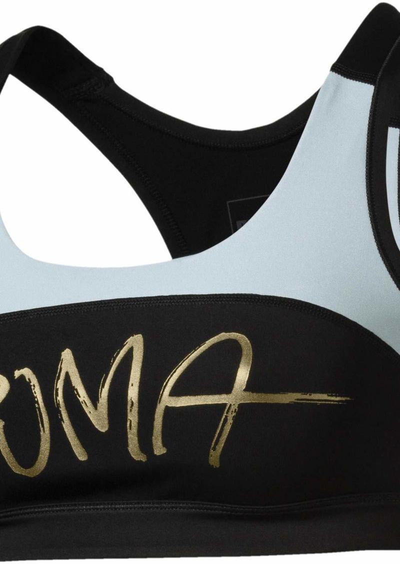 PUMA Women's Powershape Forever Sports Bra Sweet Black/Light Sky L