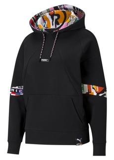 Puma Women's Printed Active Hooded Sweatshirt