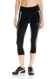 PUMA Women's Powershape Knee Capri Pants Black