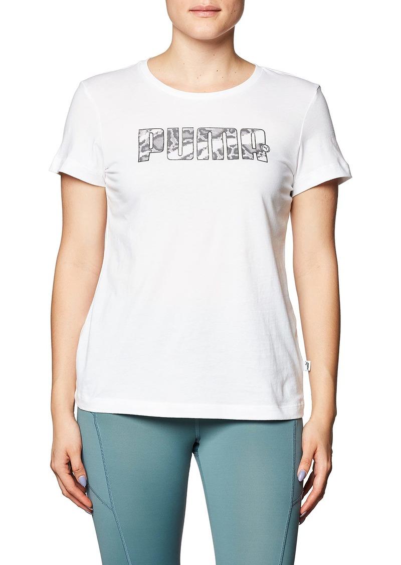 PUMA womens Rebel Graphic Tee TShirt Puma Whiteuntamed XSmall US