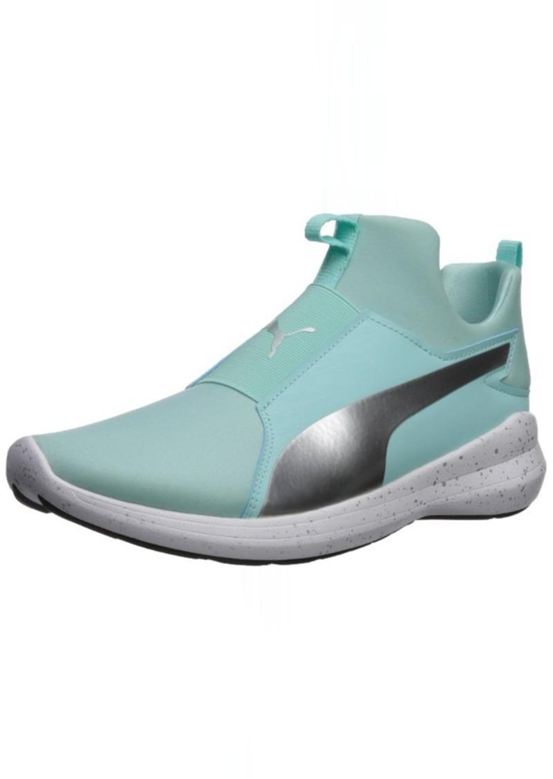 PUMA Women's Rebel Mid WNS Speckles Sneaker Island Paradise Silver