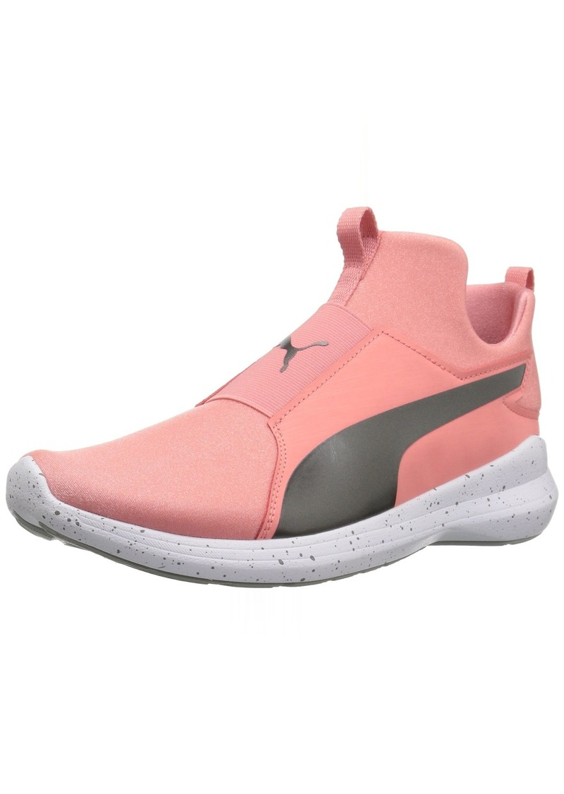 PUMA Women's Rebel Mid WNS Speckles Sneaker Shell Pink Aged Silver  M US