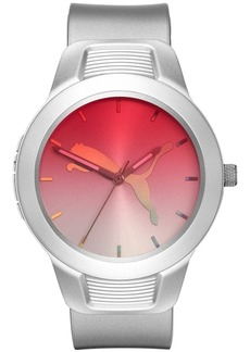 Puma Women's Reset Silver Silicone Strap Watch 36mm
