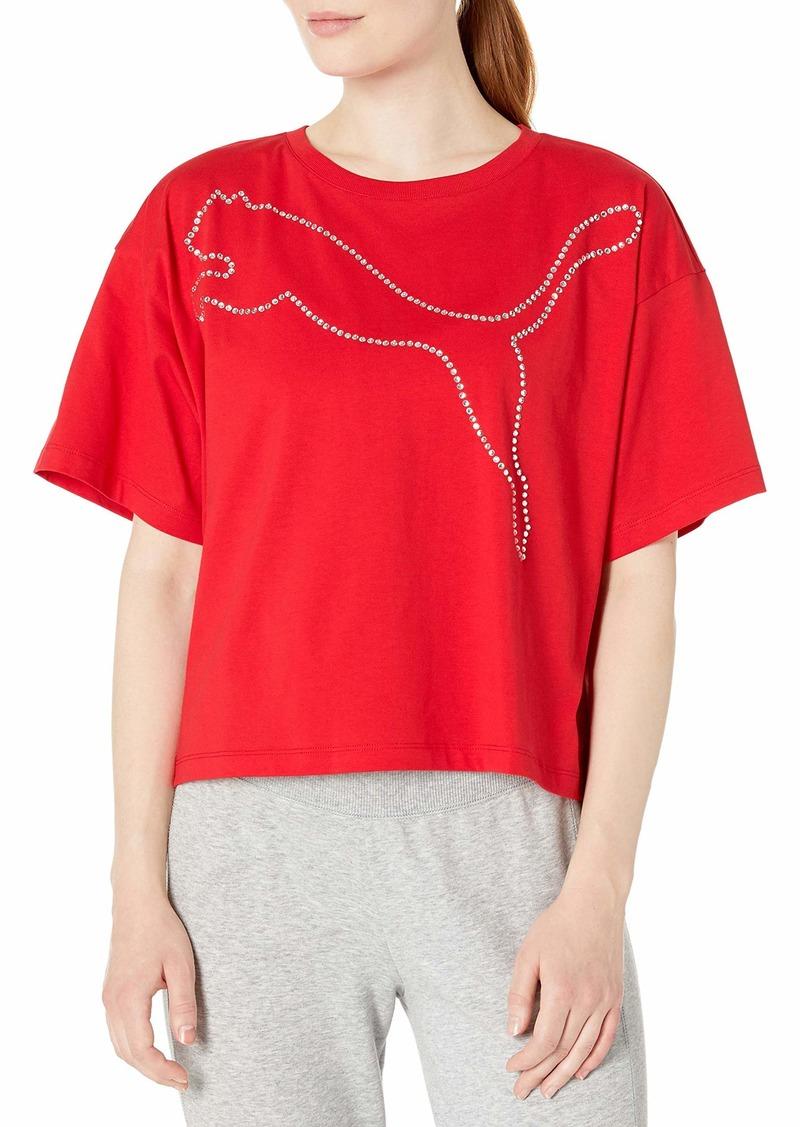 PUMA Women's Rhinestone TEE Shirt  S