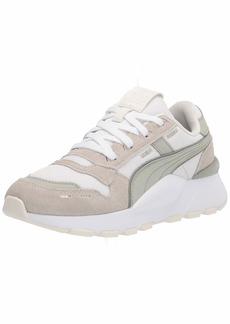 PUMA Women's RS 2.0 Sneaker White-Desert Sage-Marshmallow