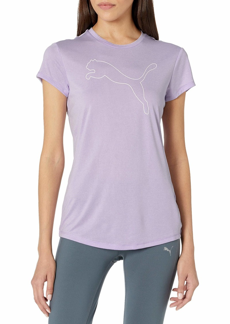 PUMA womens Rtg Heather Logo Tee T Shirt   US