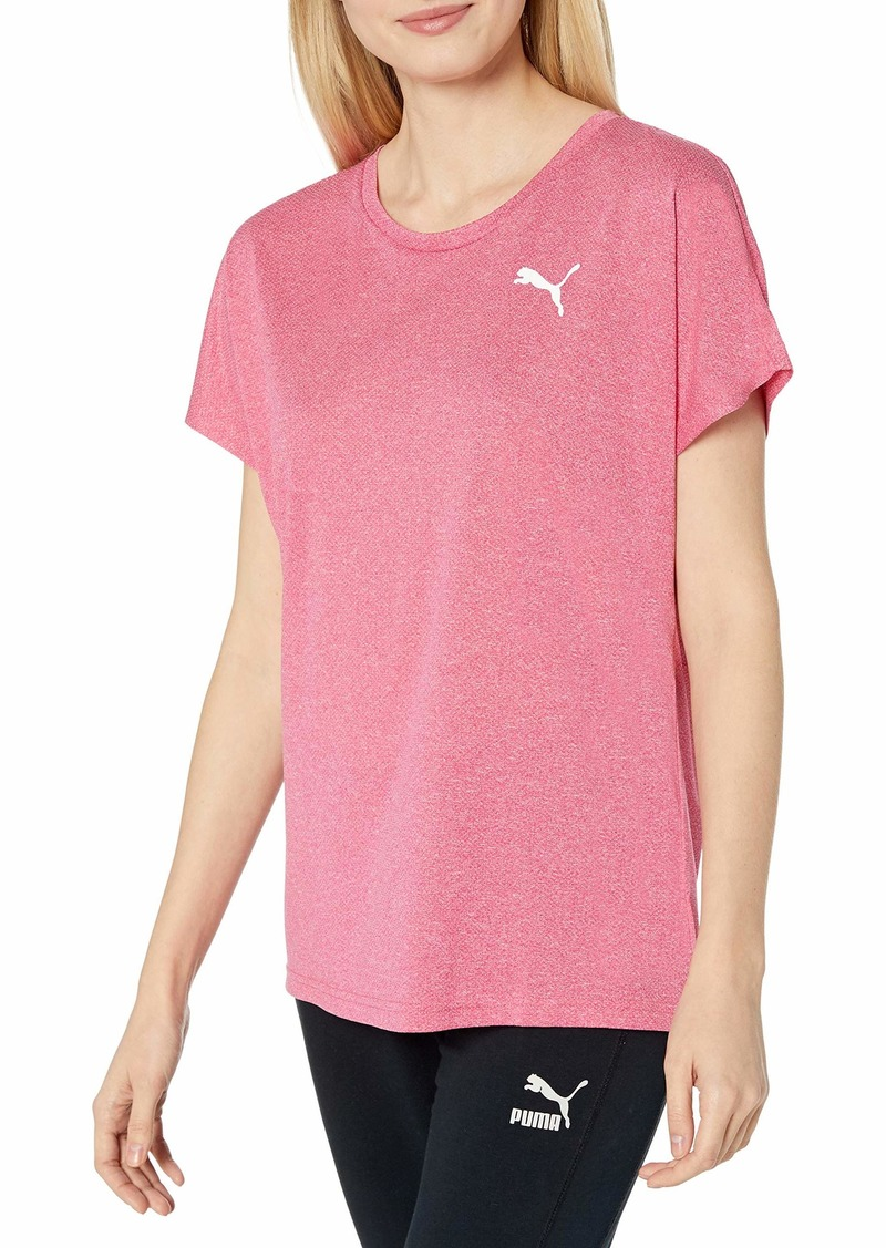PUMA Women's Active Mesh Heather T-Shirt  M