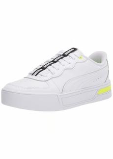 PUMA Women's Skye Sneaker White-Yellow Alert Black