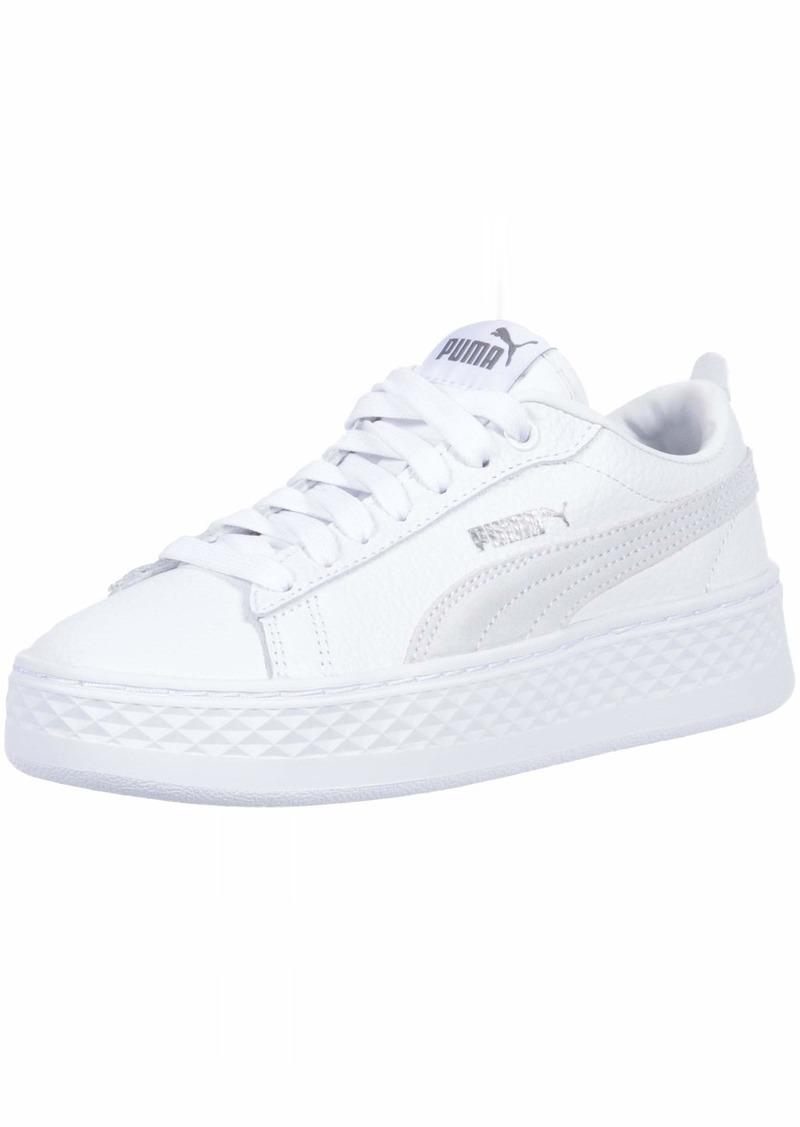 PUMA Women's Smash Platform Sneaker White  M US