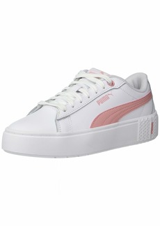 PUMA Women's Smash Sneaker White-Bridal Rose