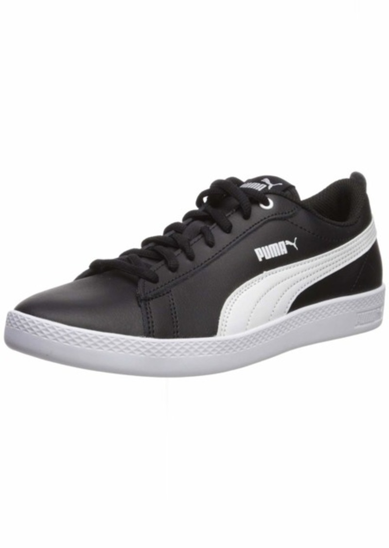 PUMA Women's Smash V2 Sneaker Black White