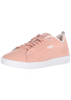 PUMA Women's Smash WNS v2 Leather Perf Sneaker Peach Beige  M US