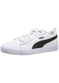 PUMA Women's Smash WNS v2 Leather Sneaker White Black  M US