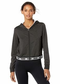 PUMA Women's Soft Sports Drapey Full Zip Hoody Black Heather L