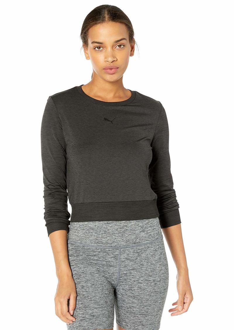 PUMA Women's Soft Sports Long Sleeve T-Shirt Black Heather L