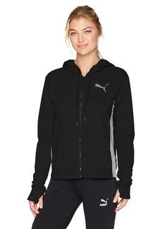 PUMA Women's Spark Sweat Jacket Black  Gray Heather M