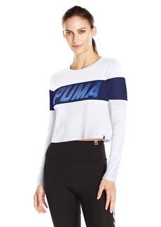 PUMA Women's Speed Font Long Sleeve Top  Medium