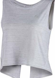 PUMA Women's Studio Crop LACE Tank TOP White XL