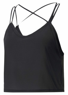 PUMA Women's Studio Strappy Tank TOP Black XS