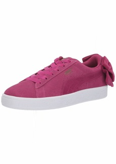 PUMA Women's Suede Bow Sneaker Magenta Haze  M US