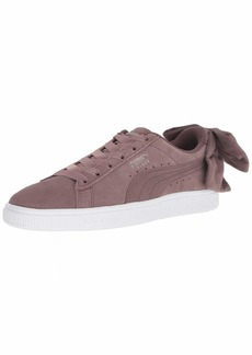 PUMA Women's Suede Bow Sneaker Peppercorn  M US