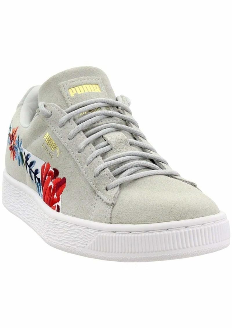 PUMA Women's Suede Classic Sneaker Glacier Gray White  M US