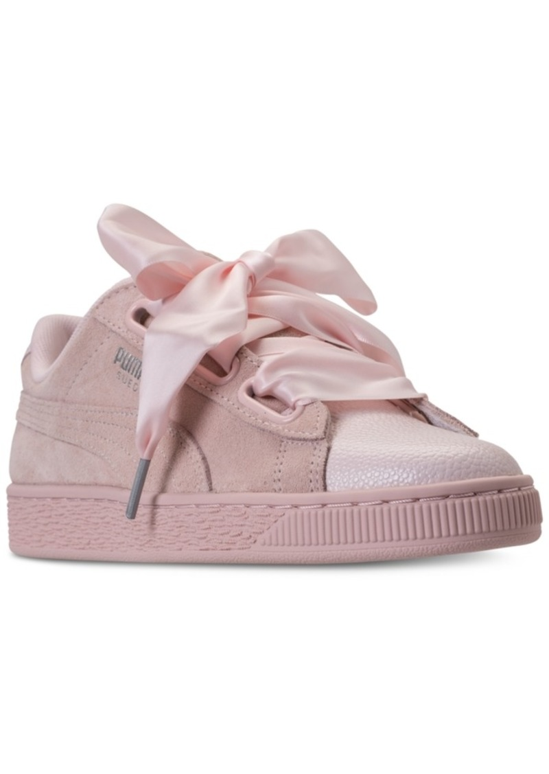 promo code 683f3 1a382 Women's Suede Heart Bubble Casual Sneakers from Finish Line