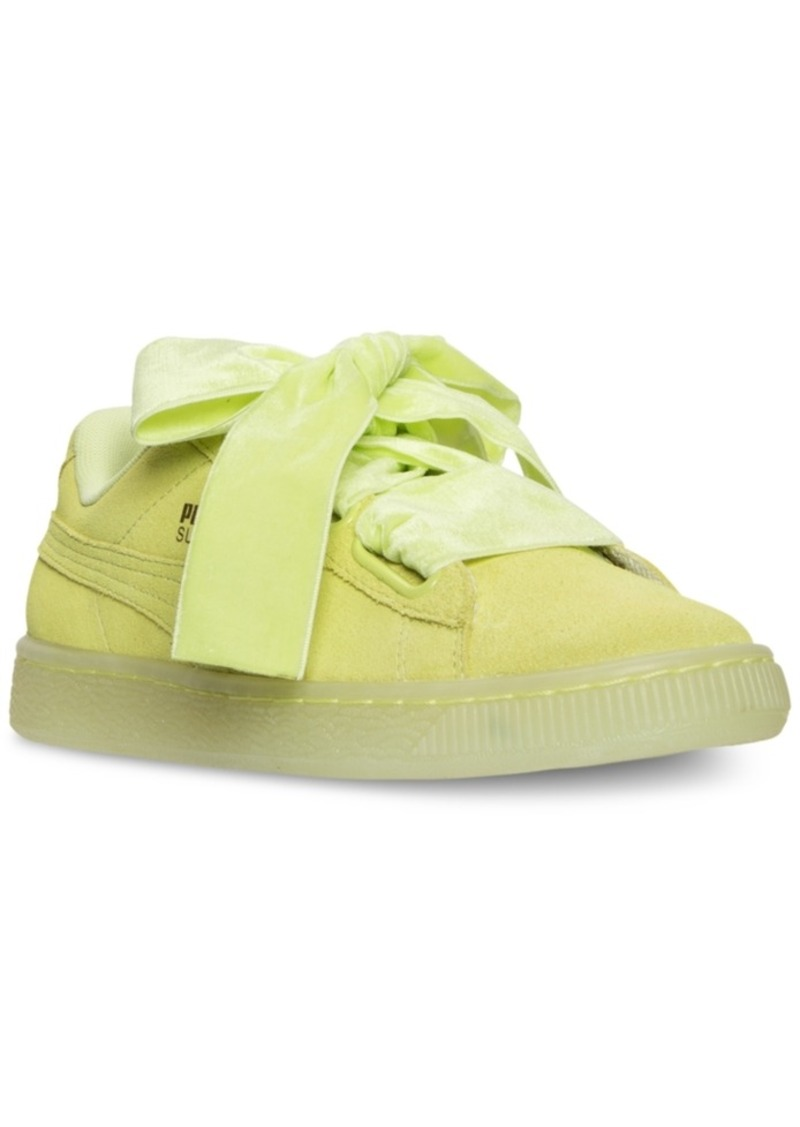 buy online 35a8b b3d13 Women's Suede Heart Reset Casual Sneakers from Finish Line