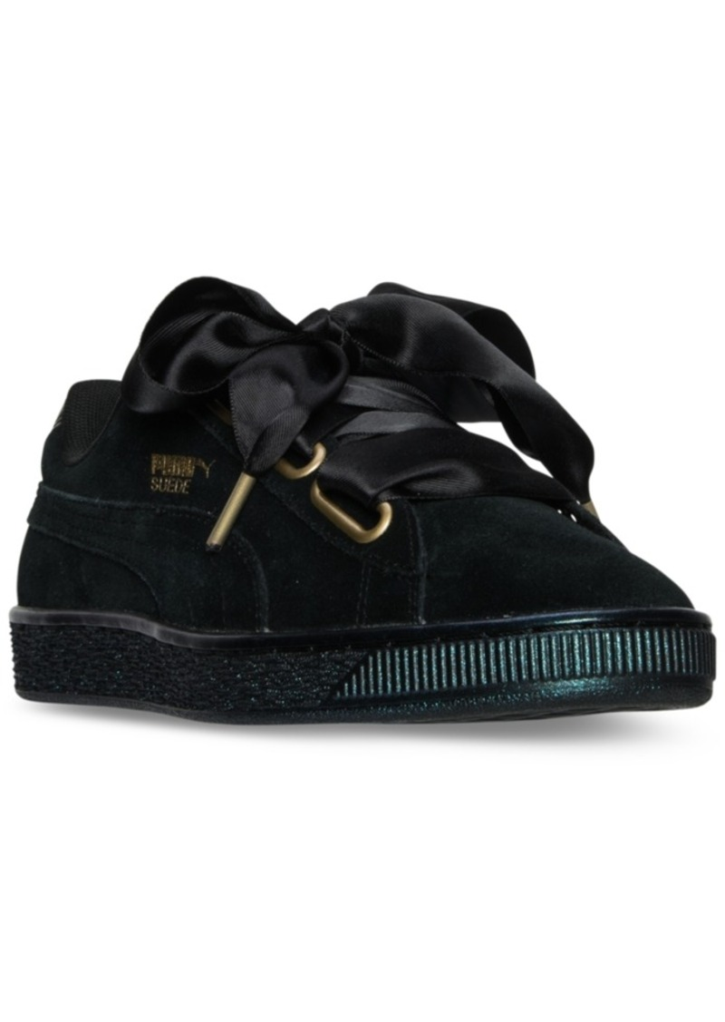 9432670823b Puma Puma Women s Suede Heart Satin Casual Sneakers from Finish Line ...