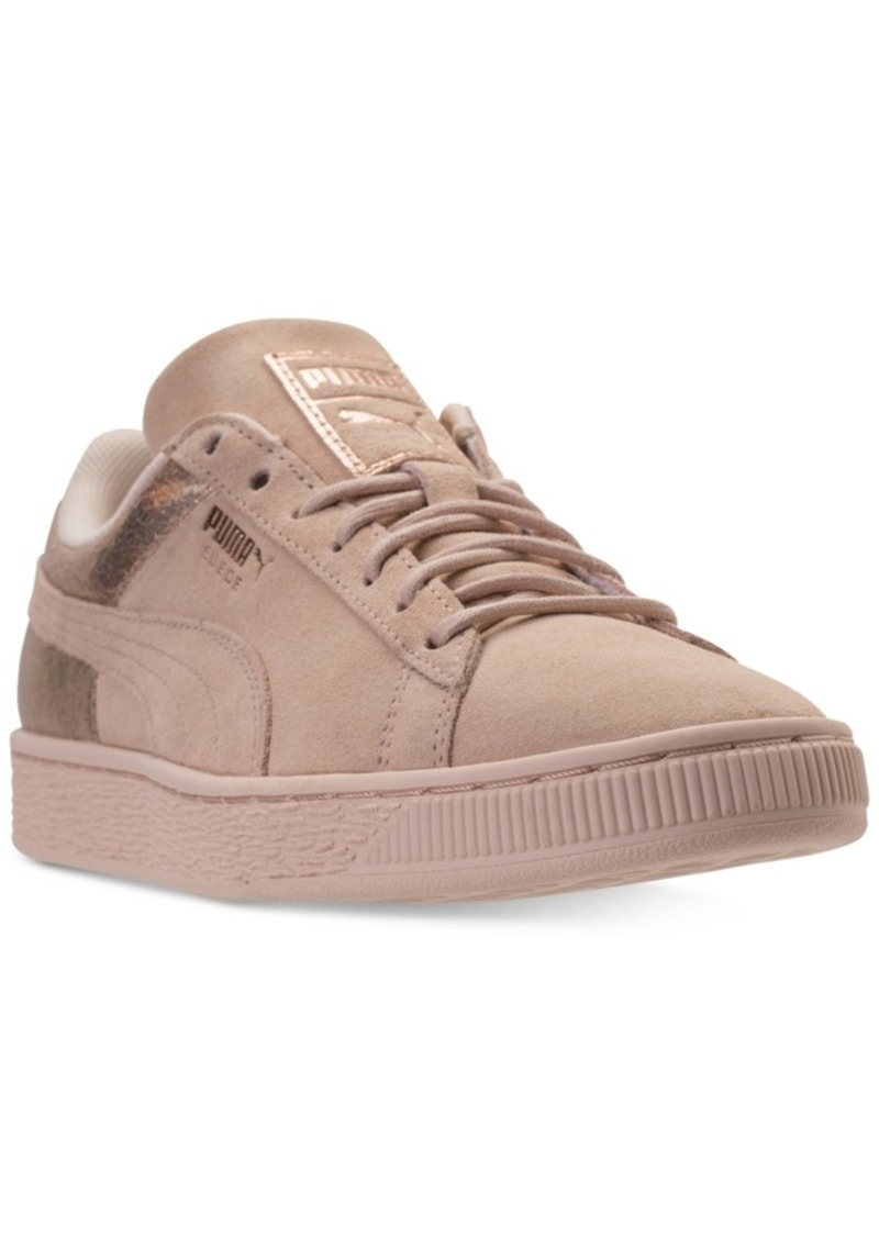 Women's Suede LunaLux Casual Sneakers from Finish Line