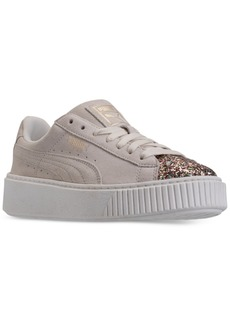 Puma Women's Suede Platform Crushed Gem Casual Sneaker