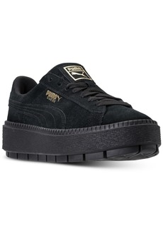 Puma Women's Suede Platform Trace Casual Sneakers from Finish Line