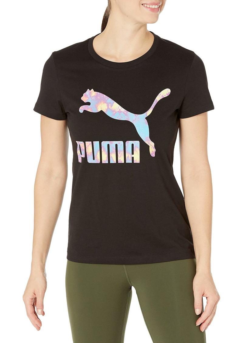 PUMA Women's Graphic Tee Black-Tiedye