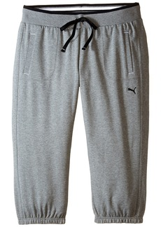 PUMA Women's Sweat Capri Medium Gray Heather