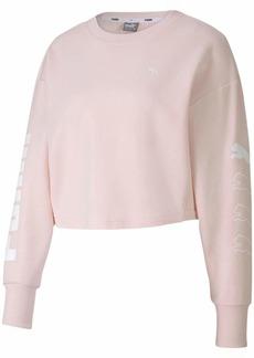 PUMA Women's Rebel Crewneck Sweatshirt  S