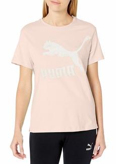 PUMA Women's Classics T-Shirt Rosewater-Metallic