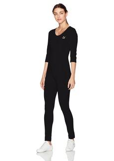 PUMA Women's T7 Jumpsuit Black/Gold Glitter S