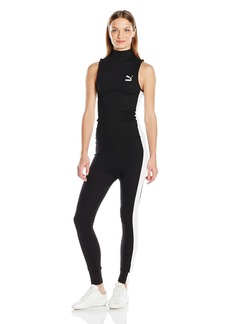 PUMA Women's T7 Jumpsuit Black White S