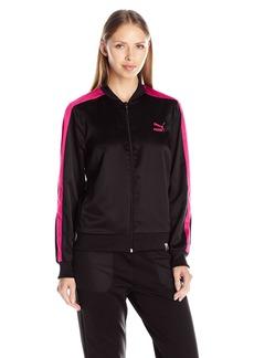 PUMA Women's T7 Satin Track Jacket Black
