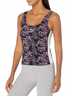 PUMA Women's Tank Black-All Over Print XXL