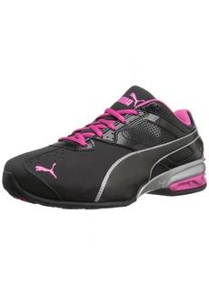 PUMA Women's Tazon 6 WN's fm Cross-Trainer Shoe Black Silver/Beetroot Purple  M US