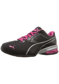 PUMA Women's Tazon 6 WN's fm Cross-Trainer Shoe Black Silver/Beetroot Purple  M US