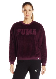 PUMA Women's Teddy Crew Sweatshirt  Medium