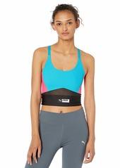 PUMA Women's Trail Blazer Crop Top Shirt Caribbean sea XS