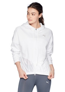 PUMA Women's Transition Full Zip Hoodie White XS